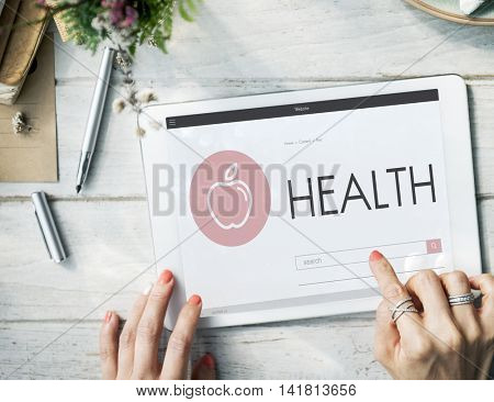 Health Mental Physical Nutrition Vitality Wellness Concept