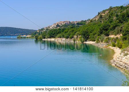 Lac de Sainte Croix Provence, Alpes, France - View of the lake