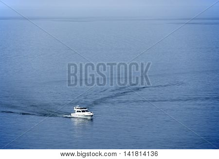Boat on Lake Baikal, Russian Federation