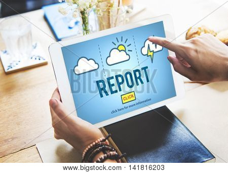 Report Inform Management Reporter Research Concept