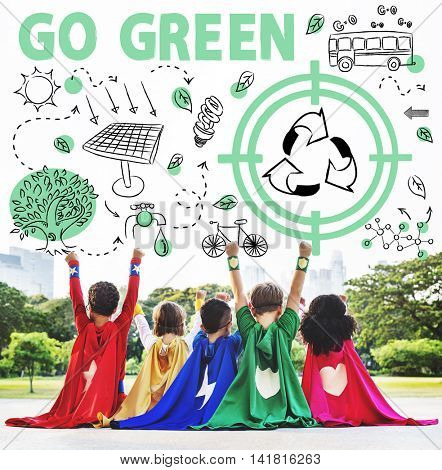 Go Green Reuse Sun Bus Arrow Concept