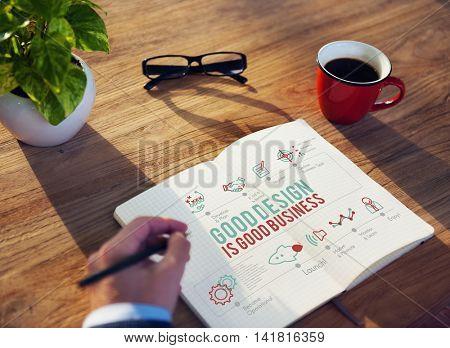 Design Creative Draft Drawing Ideas Purpose Concept