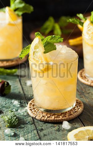 Homemade Boozy Bourbon Whiskey Smash