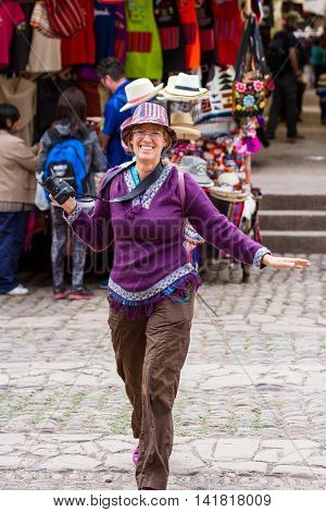 The Pisac Market In Peru