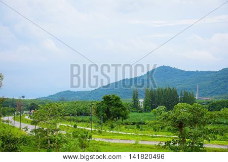 landscape and mountains background in Thailand. beautiful nature.