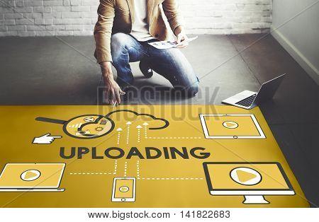 Upload Uploading Storage Cloud Devices Concept