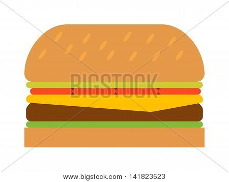 Hamburger fast food tasty grilled american dinner. Hamburger classic cuisine gourmet fast food. Hamburger cheeseburger. Hamburger with meat, lettuce and cheese sandwich fast food