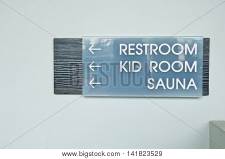 direct to restroom, kid room and sauna in clubhouse