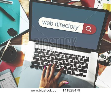 Web Directory Search Engine Browser Find Concept poster