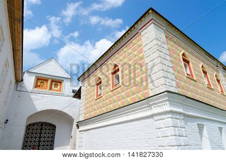 House of Romanov boyars and Western Gate Holy Trinity Ipatiev Monastery Kostroma Golden Ring of Russia