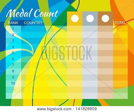 Medal Count Design