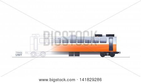 Train Technical Illustration