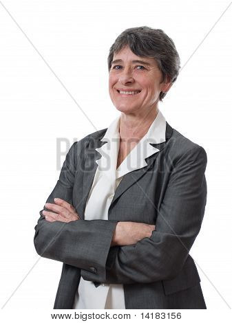 smiling mature businesswoman