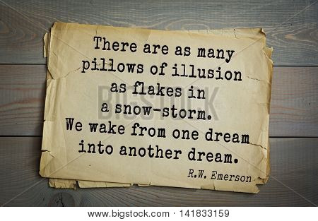 Aphorism by Ralph Waldo Emerson (1803-1882) - American essayist, poet, philosopher, social activist quote. There was never a child so lovely but his mother was glad to get him to sleep.