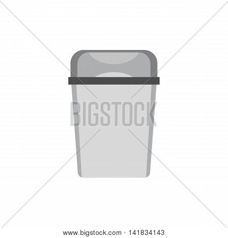 Kitchen garbage can icon in flat style isolated on white background