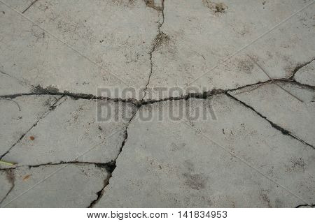 cracked cement wall, cracked cement background or texturev
