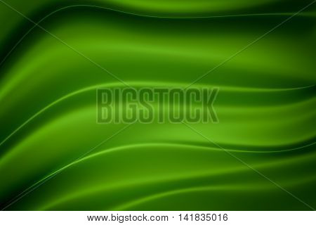 Green silk texture with space for text or image 3d rendering