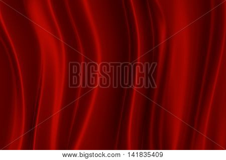 Red silk texture with space for text or image 3d rendering