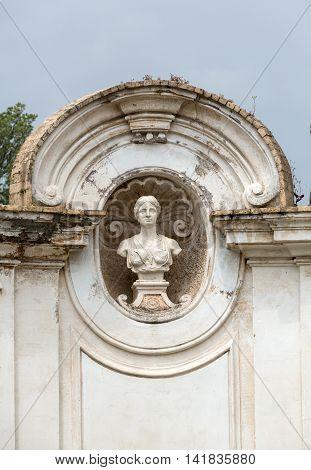 ROME ITALY - JUNE 14 2015: Rotonda di Goethe in Garden of Villa Borghese. Rome Italy