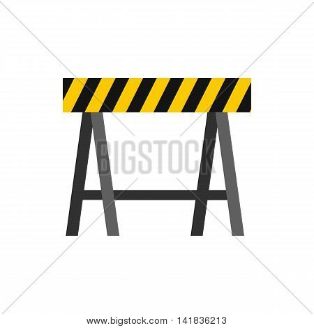 Prohibitory road sign icon in flat style isolated on white background. Construction symbol