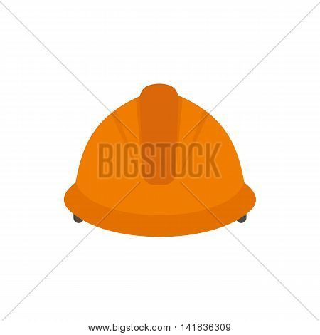 Construction helmet icon in flat style isolated on white background. Protection symbol