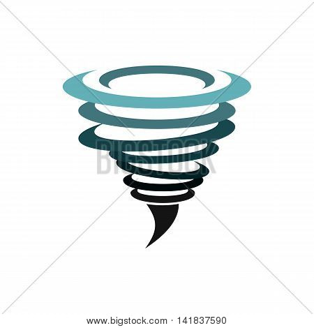 Hurricane icon in flat style isolated on white background. Weather symbol