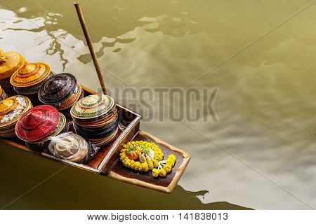 Transportation Of Floating Market In Bangkok, Thailand