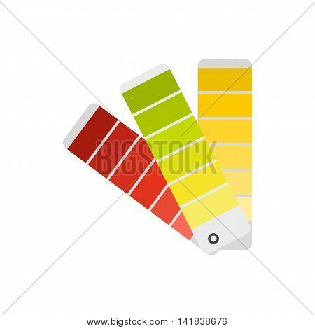 Paper color palette icon in flat style isolated on white background. Gamma selection symbol