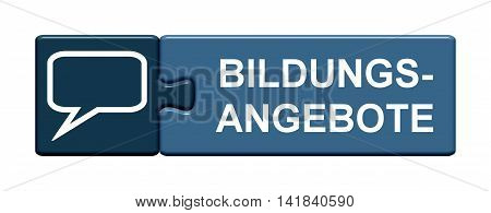 Isolated Puzzle Button with symbol is showing educational program in german language