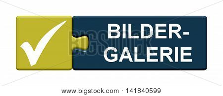 Isolated Puzzle Button with symbol is showing Picture Gallery in german language