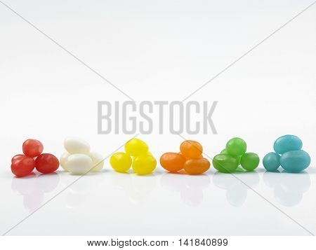 Assorted jelly beans. Colorful image great for backgrounds