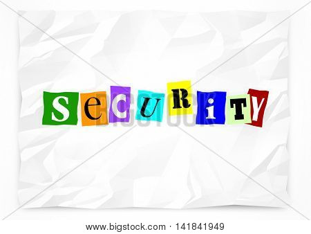 Security Ransom Note Safety Crime Prevention 3d Illustration