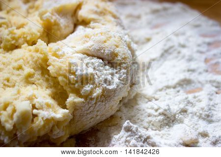Potato dough made for dumplings or gnocchi