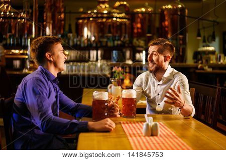 Young man in a pub