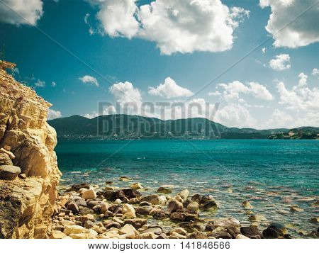 Beautiful island, Zakynthos, Greece. Summer time.