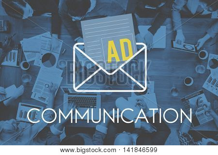 Advertisement Social Media Internet Letter Concept