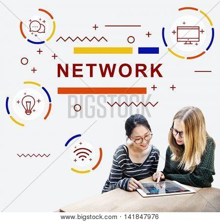 Network Connection internet Social Network Concept