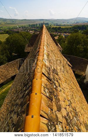 images from Viscri fortified monastery Brasov Romania