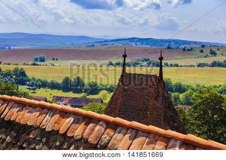 images roof of the monastery fortified Viscri