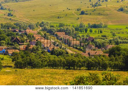 images from Viscri  fortified monastery Sibiu Romania