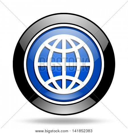 earth blue glossy icon