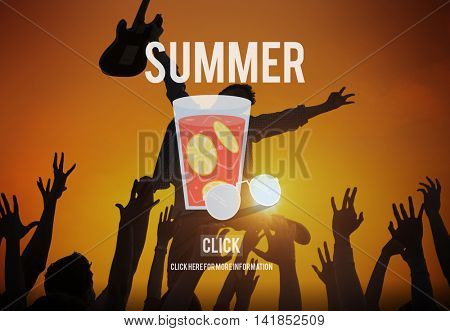 Summer Holiday Beach Sea Happiness Concept