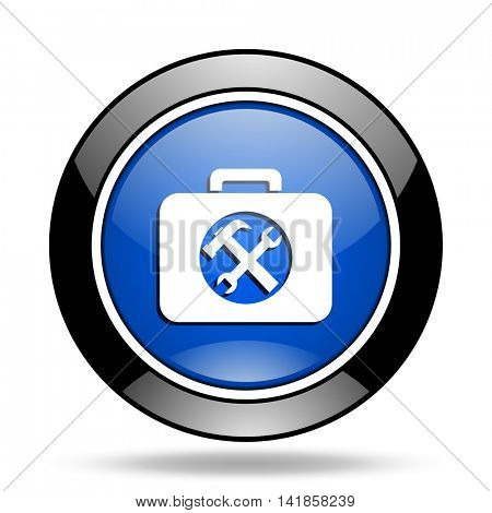 toolkit blue glossy icon