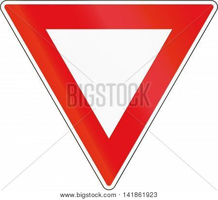 Road Sign Used In The African Country Of Botswana - Yield