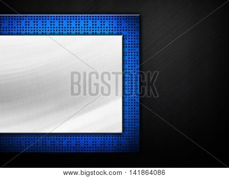 striped metal with chipset background