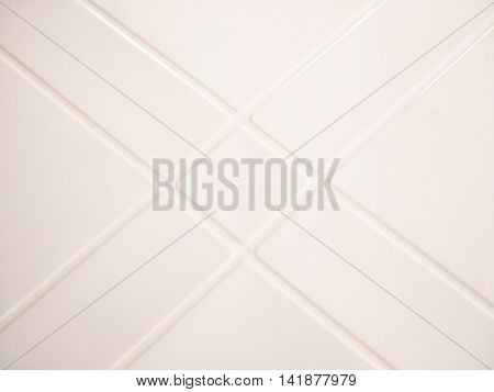 plastic surface pattern with vanishing point of parallel diagonal lines