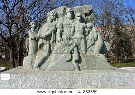 KRASNODAR, RUSSIA - MARCH 11, 2015: Monument