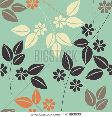 Beautiful seamless pattern with colorful floral bouquets. Stylish template can be used for  cards, web pages, textile linen, tile and more creative designs.