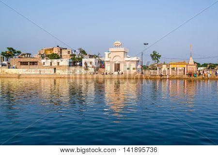 The Holy Lake of Radha-Kunda in Vrindavan, North India