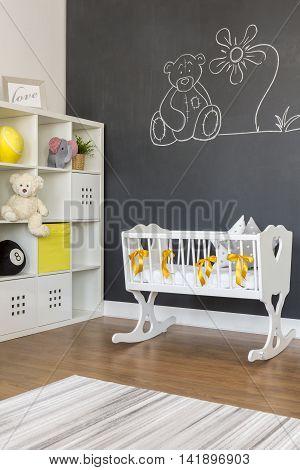 White Baby Cradle